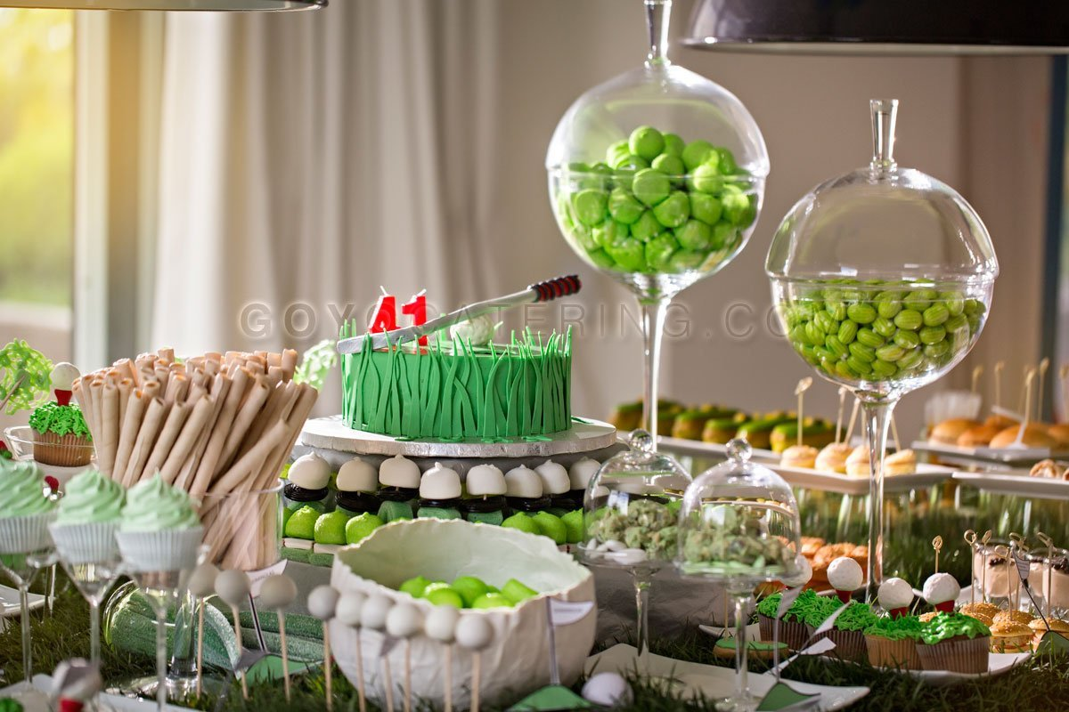 Personalized Candy Bar Dedicated To Golf Goyo Catering