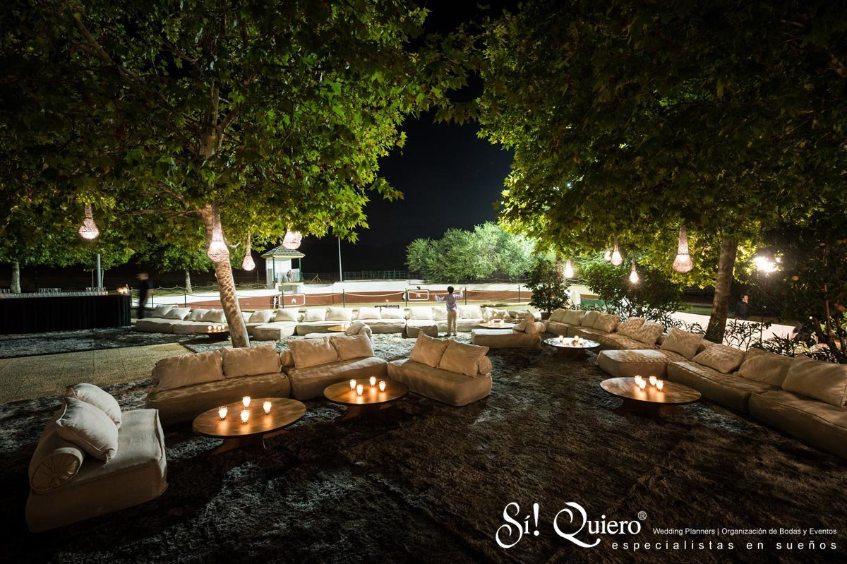 chill out spaces at an event  elegance and tranquillity