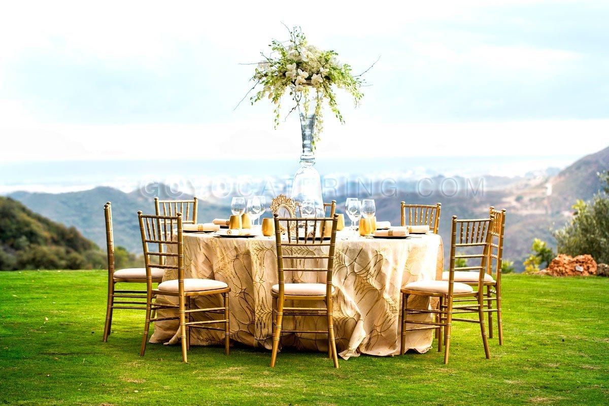 Ideas para elegir los manteles de boda goyo catering marbella - Mantel para mesa exterior ...